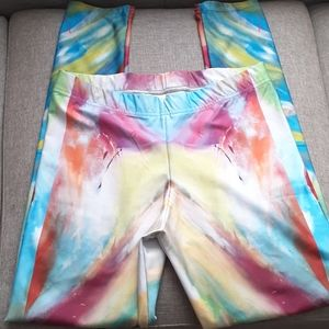 "Ellen Robinson Art 10"" rise leggins sz large"
